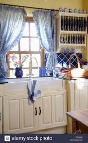 Kitchen Curtains Blue by Kitchen Pleasant Country Kitchen Curtains In Country Kitchen