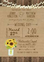 sunflower wedding invitations sunflower bridal shower invitation rustic wood and by photocottage