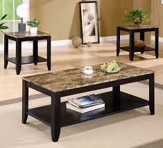 transform marble top coffee table and end tables on luxury home