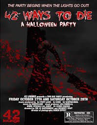 42 ways to die a halloween party friday event 42 lounge