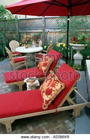 Minneapolis Patio Furniture by Minneapolis Minnesota Townhome Patio Garden In Mid Summer Stock