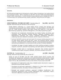 Medical Device Resume Gachompff Resume 1 4