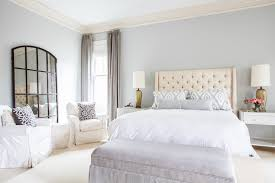 Ideas For Bone Inlay Furniture Design Cream Tufted Headboard Transitional Bedroom Sherwin Williams