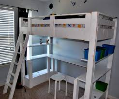 Bunk Bed Desk White Loft Bed Small Bookcase And Desk Diy Projects