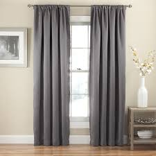 Bed Bath Beyond Blackout Curtains Amazon Com Eclipse 14378052063gre Tricia Rod Pocket 52 Inch By 63