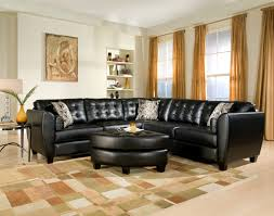contemporary living room ideas with black sectionals faux leather