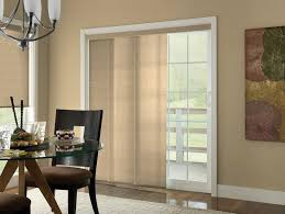 curtains or blinds for sliding glass doors crown molding around new patio entrance and metal plumbing pipe