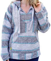 grey u0026 blue baja hoodie drug rug u2013 mexican threads