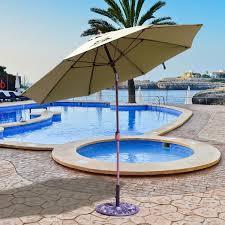 Buy Patio Umbrella by Galtech 9 Ft Aluminum Patio Umbrella With Crank Lift And Standard