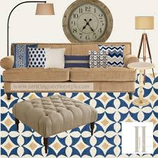 navy and camel living room updated color palette with camel