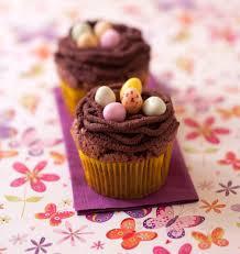 cuisine de paques cupcakes nids de pâques au chocolat les meilleures recettes de