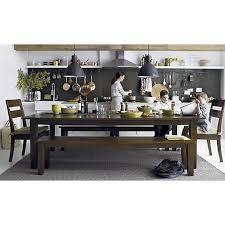 crate and barrel farmhouse table basque honey 104 dining table in dining kitchen tables crate and