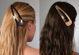 snap hair 2pcs lot high quality women headwear solid black big snap hair