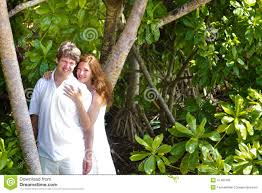 beutiful couple in a tropical jungle stock photo image 41481493