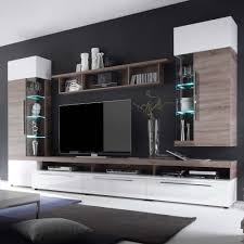 Wohnzimmer M El Sonoma Eiche Ideen Wohnwand Modern Eiche Gispatcher Ebenfalls Schönes