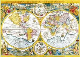 Ancient World Map by Jigsaw Puzzle 4000 Pieces Ancient World Map Clementoni 34516
