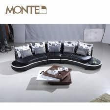 canapé sofa italien ovale semi cercle en cuir italien canapé buy product on alibaba com