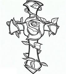 coloring pages of crosses and roses coloring pages pinterest