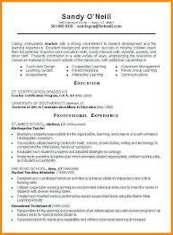 resume templates for teachers hitecauto us