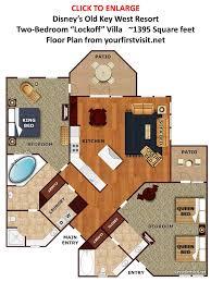 two bedroom suites in key west studio second bedroom spaces at disney s old key west resort key