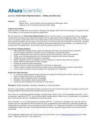 Security Resumes Examples by Inside Sales Resume Examples Resume For Your Job Application