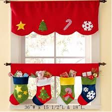 Christmas Window Decorations For Sale by Christmas Sock Xmas Window Curtain Party Banner Curtain Hanging