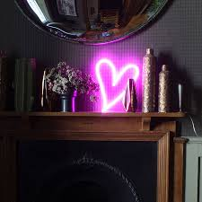 neon light up led heart sign by love inc notonthehighstreet com