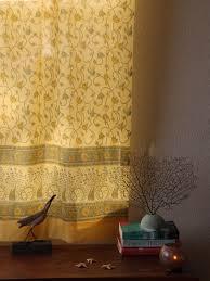 yellow curtain panel floral summer saffron marigold