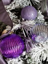 pink and purple tree baubles decorations ideas white
