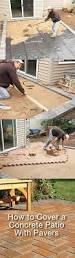 Brick Patio Diy How To Cover A Concrete Patio With Pavers Diy Concrete Patio