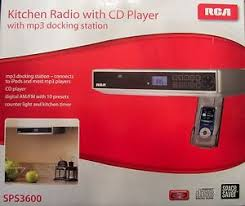Under Cabinet Kitchen Radios by Rca Under Cabinet Kitchen Radio With Cd Player And Mp3 Docking