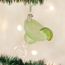 world margarita glass blown ornament