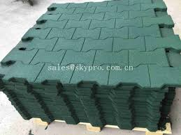 driveway rubber patio pavers anti slip recycled rubber