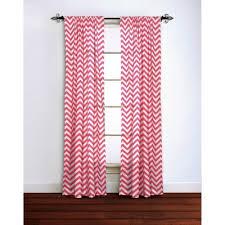 Pink Chevron Curtains Chevron Curtain Panel 100 Cotton Target