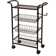 Oil Rubbed Bronze Bathroom Shelves by Rolling Bath Cart Bathroom Storage With Wire Bins Shelf Oil Rubbed