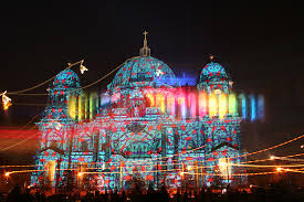 berlin cathedral in the museum island district festival of lights