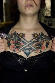 90 chest tattoos for both and