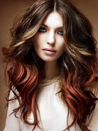 pictures of long hairstyles colored for wavy hair