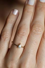 teardrop engagement rings pearl engagement ring gold pearl ring pear pearl ring14k