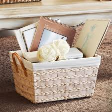 chagne baskets storage handle basket with liner could