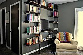 Industrial Pipe Bookcase Serendipity Refined Blog Diy Industrial Pipe Shelves For The