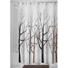 Shower Curtains With Trees Shower Curtain Tree Forest Bird Black Grey Brown 730669636165 Ebay