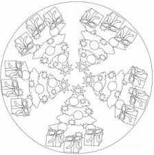 christmas tree mandala coloring mandalas en blanco negro