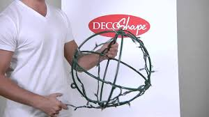 outdoor christmas light balls christmas light balls made easy with decoshape light globes youtube