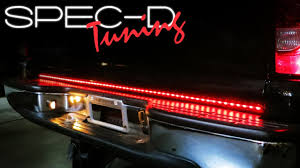 walmart led lights strips specdtuning installation video universal truck led tailgate light