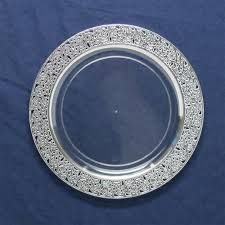 clear plastic plates inspiration high end plastic plates clear silver 10 count