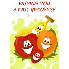 get well soon cards well soon fruits card