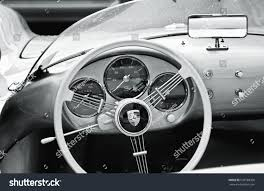 porsche black interior black white image interior fifties porsche stock photo 620788706