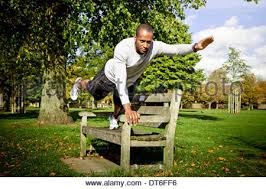 Park Bench Position Man On A Park Bench In The Fog Stock Photo Royalty Free Image