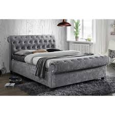 Grey Sleigh Bed Buy Grey Beds Silver Beds Beds On Legs